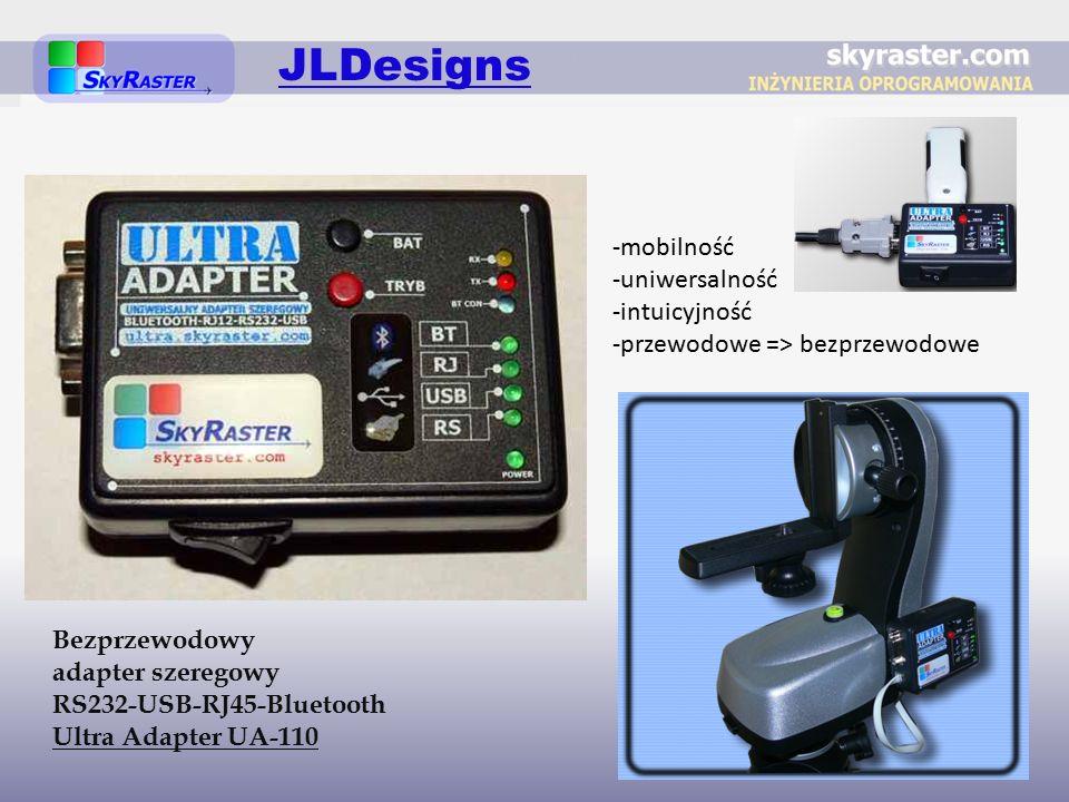 Bezprzewodowy adapter szeregowy RS232-USB-RJ45-Bluetooth Ultra Adapter UA-110 JLDesigns -mobilność -uniwersalność -intuicyjność -przewodowe => bezprzewodowe