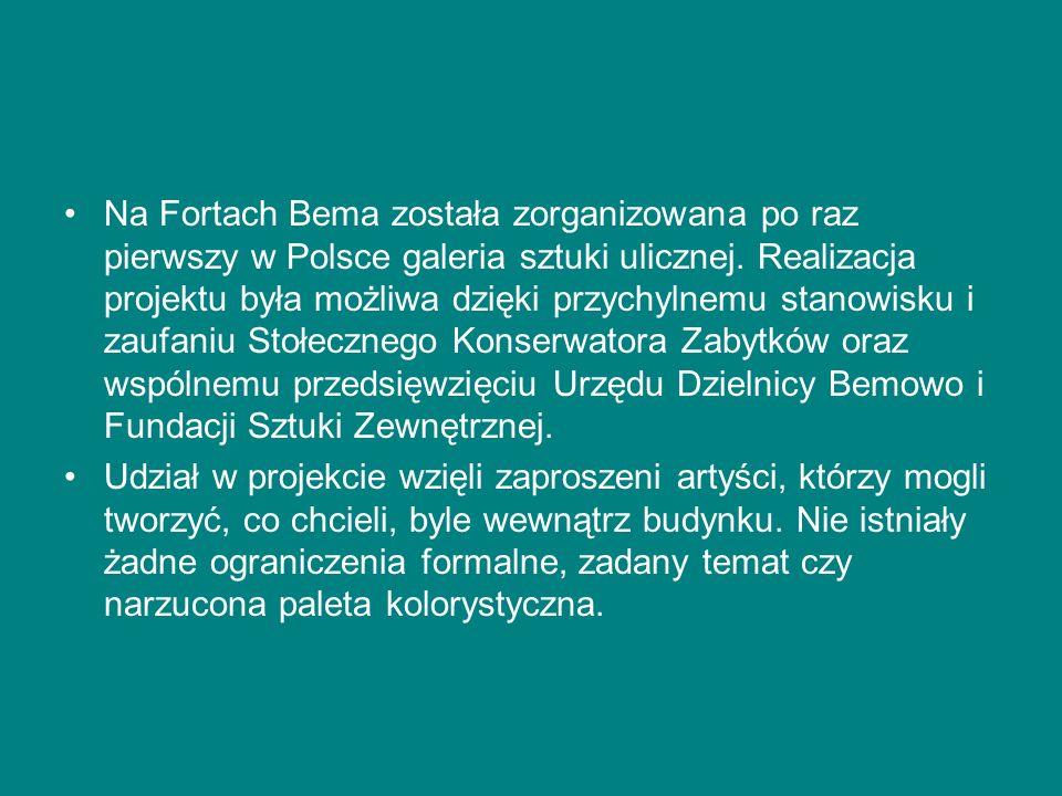 Na Fortach Bema została zorganizowana po raz pierwszy w Polsce galeria sztuki ulicznej.