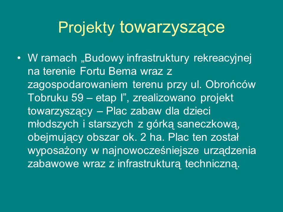 """Projekty towarzyszące W ramach """"Budowy infrastruktury rekreacyjnej na terenie Fortu Bema wraz z zagospodarowaniem terenu przy ul."""
