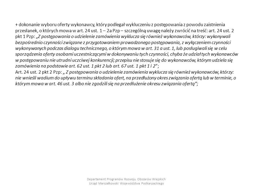Przykłady stanów faktycznych stwierdzonych podczas kontroli postępowań o udzielenie zamówienia publicznego przeprowadzonych w związku z realizacją operacji w ramach PROW 2007-2013 W przypadku wniosku jednego z beneficjentów w wyniku przeprowadzanego testu przeglądowego (walkthrough) oraz testu mechanizmów kontrolnych w ramach działania Odnowa i rozwój wsi, stwierdzono, że zamawiający w specyfikacji istotnych warunków zamówienia w postępowaniu, którego przedmiotem była modernizacja świetlicy wiejskiej, zawarł warunek posiadania ubezpieczenia od odpowiedzialności cywilnej w zakresie prowadzonej działalności na kwotę nie mniejszą niż cena złożonej oferty, tym samym postawił zróżnicowane warunki dla potencjalnych wykonawców.