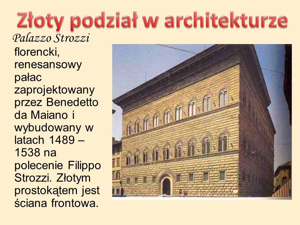 Palazzo Strozzi florencki, renesansowy pałac zaprojektowany przez Benedetto da Maiano i wybudowany w latach 1489 – 1538 na polecenie Filippo Strozzi.