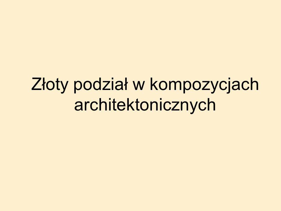Złoty podział w kompozycjach architektonicznych