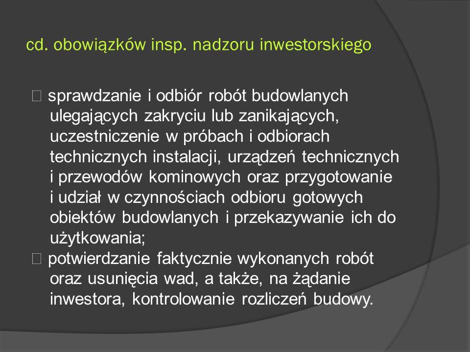 cd. obowiązków insp.
