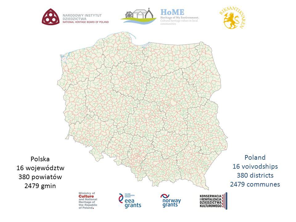 Polska 16 województw 380 powiatów 2479 gmin Poland 16 voivodships 380 districts 2479 communes