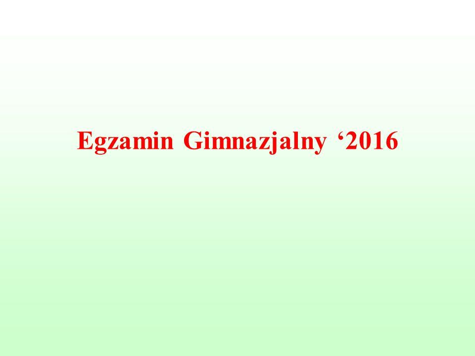 Egzamin Gimnazjalny '2016