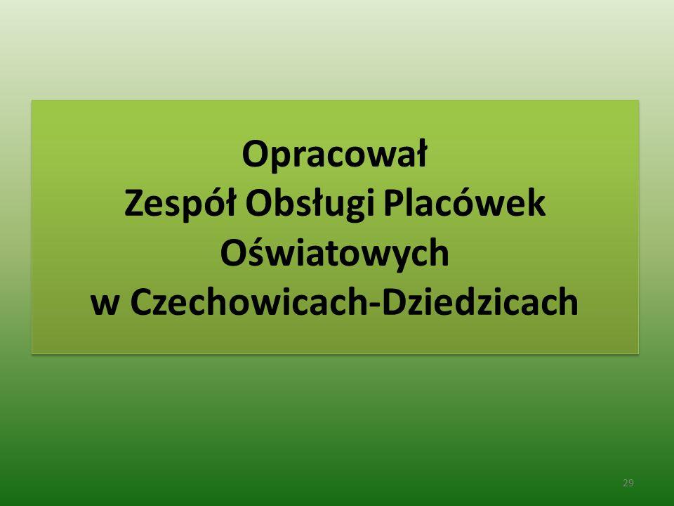 Opracował Zespół Obsługi Placówek Oświatowych w Czechowicach-Dziedzicach 29
