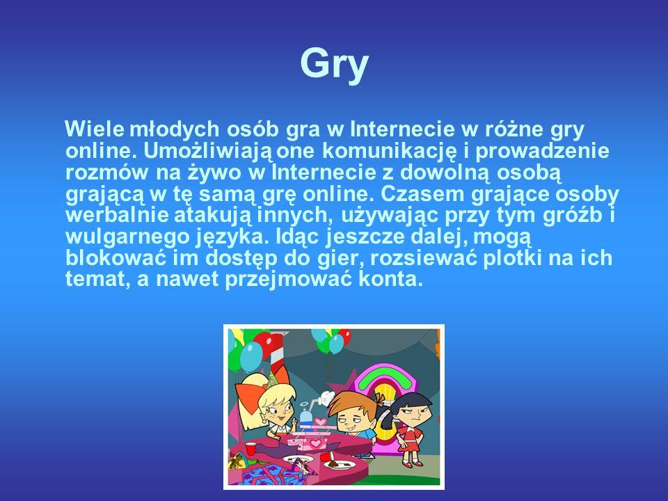 Gry Wiele młodych osób gra w Internecie w różne gry online.