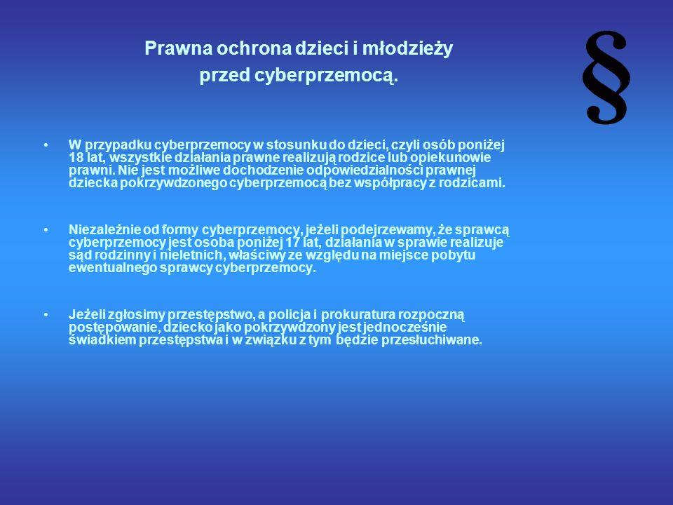 Prawna ochrona dzieci i młodzieży przed cyberprzemocą.
