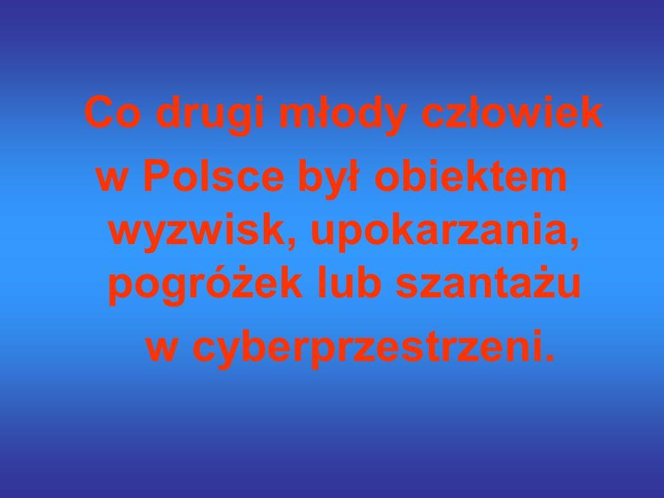 Co drugi młody człowiek w Polsce był obiektem wyzwisk, upokarzania, pogróżek lub szantażu w cyberprzestrzeni.