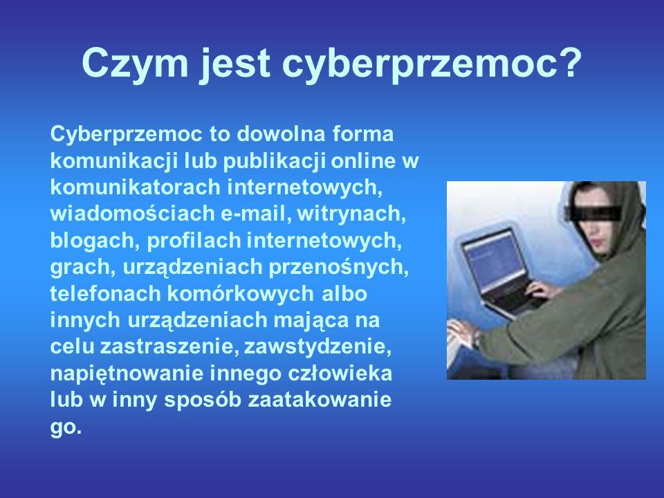 Czym jest cyberprzemoc.