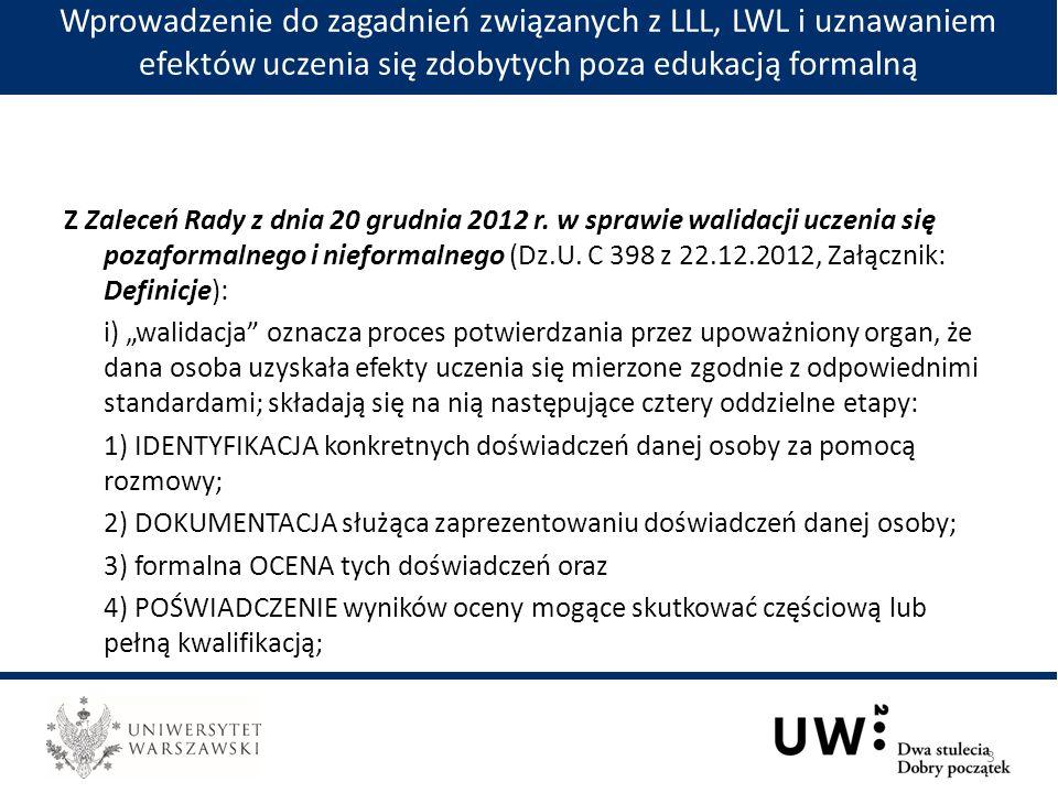 Z Zaleceń Rady z dnia 20 grudnia 2012 r.