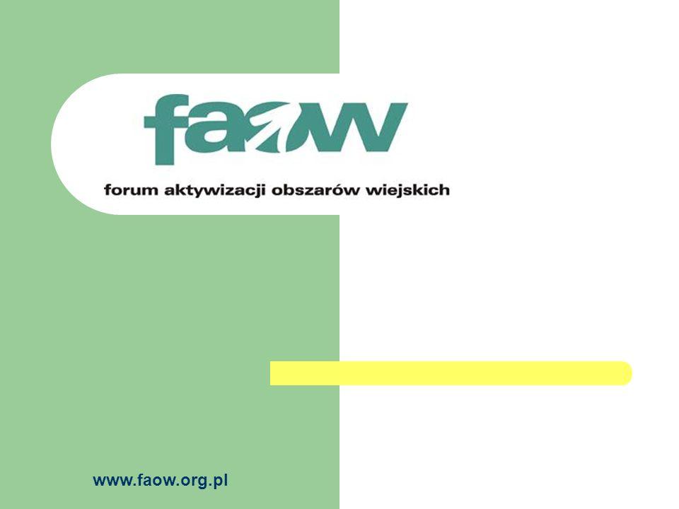 www.faow.org.pl FAOW w sieci PREPARE Forum Aktywizacji Obszarów Wiejskich współpracuje z międzynarodowa siecią PREPARE (www.preparenetwork.org) i jest jej członkiem.PREPAREwww.preparenetwork.org PREPARE (Pre-accession Partnerships for Rural Europe - Partnerstwo Przedakcesyjne na rzecz Wsi Europejskiej) to europejska sieć stawiająca sobie za cel promowanie międzynarodowej wymiany doświadczeń w zakresie rozwoju obszarów wiejskich oraz wspieranie społeczeństwa obywatelskiego na terenach wiejskich, szczególnie w krajach Europy Środkowej i Wschodniej przygotowujących się do przystąpienia do Unii Europejskiej.