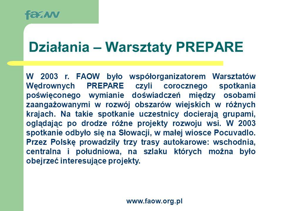 www.faow.org.pl Warsztaty PREPARE - Trasy