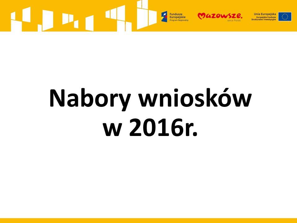 Nabory wniosków w 2016r.