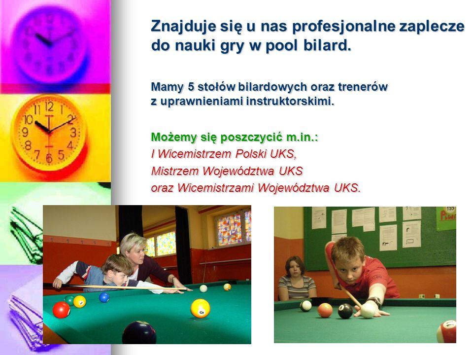 2016-05-30 Znajduje się u nas profesjonalne zaplecze do nauki gry w pool bilard. Mamy 5 stołów bilardowych oraz trenerów z uprawnieniami instruktorski