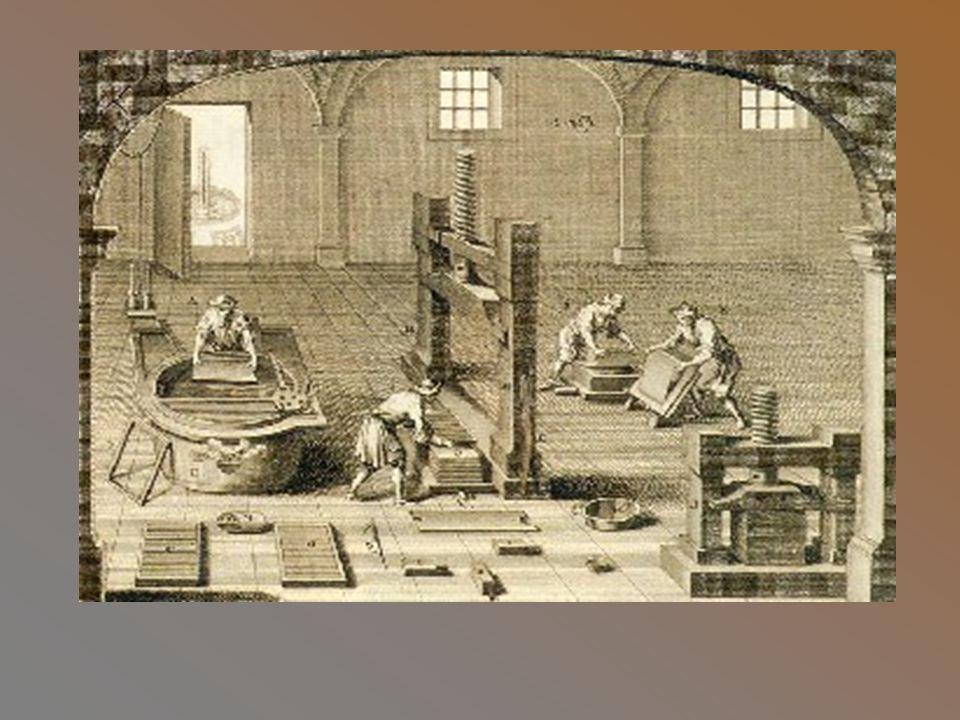 Znaczenie druku W Europie powstanie druku zbiegło się w czasie z wynalezieniem papieru, co umożliwiło rozpowszechnienie się słowa pisanego oraz spadek cen książek.