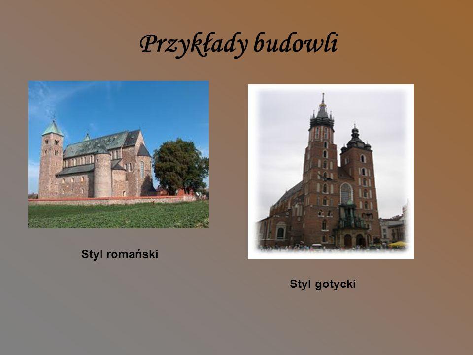 Styl gotycki i romański Cechy stylu gotyckiego Budowle gotyckie (od 2.poł.