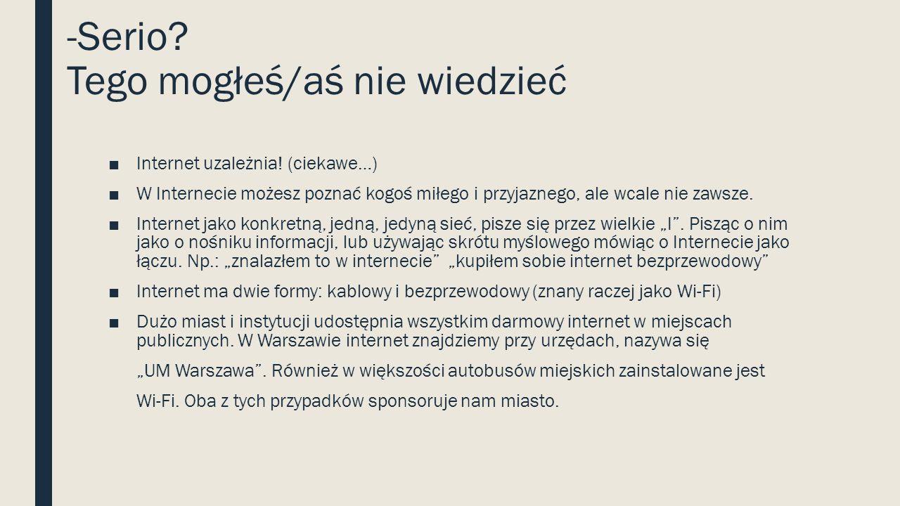 ZNANE USŁUGI INTERNETOWE Portal społecznościowy Poczta e-mailkomunikatorforum PortfoliaDysk sieciowyPortal gier Odtwarzacz filmów