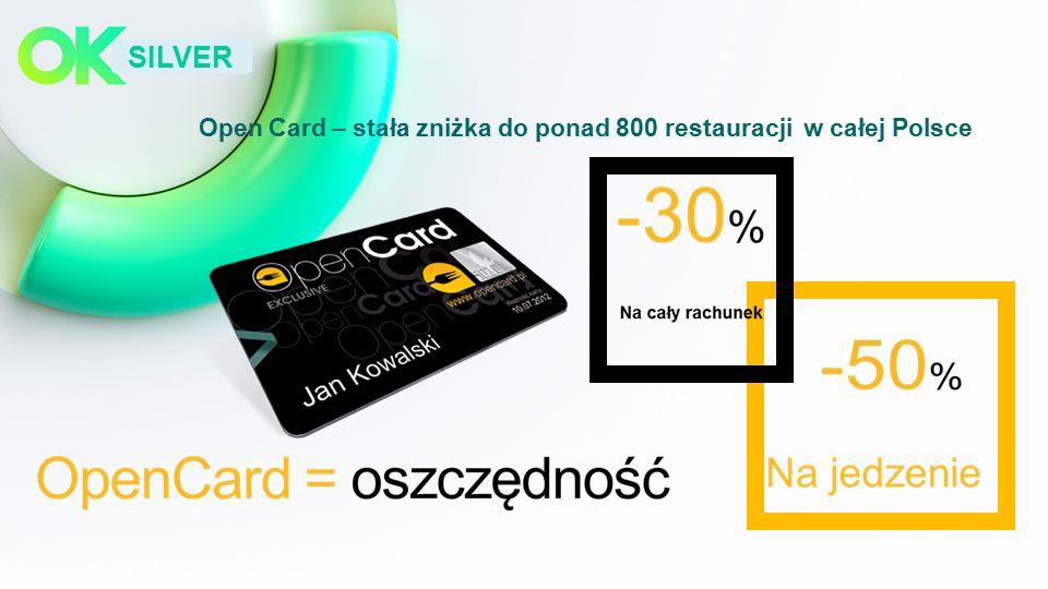 SILVER Open Card – stała zniżka do ponad 800 restauracji w całej Polsce