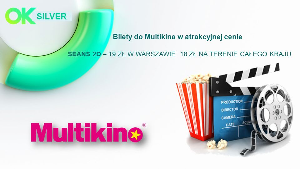 SILVER Bilety do Multikina w atrakcyjnej cenie SEANS 2D – 19 ZŁ W WARSZAWIE 18 ZŁ NA TERENIE CAŁEGO KRAJU