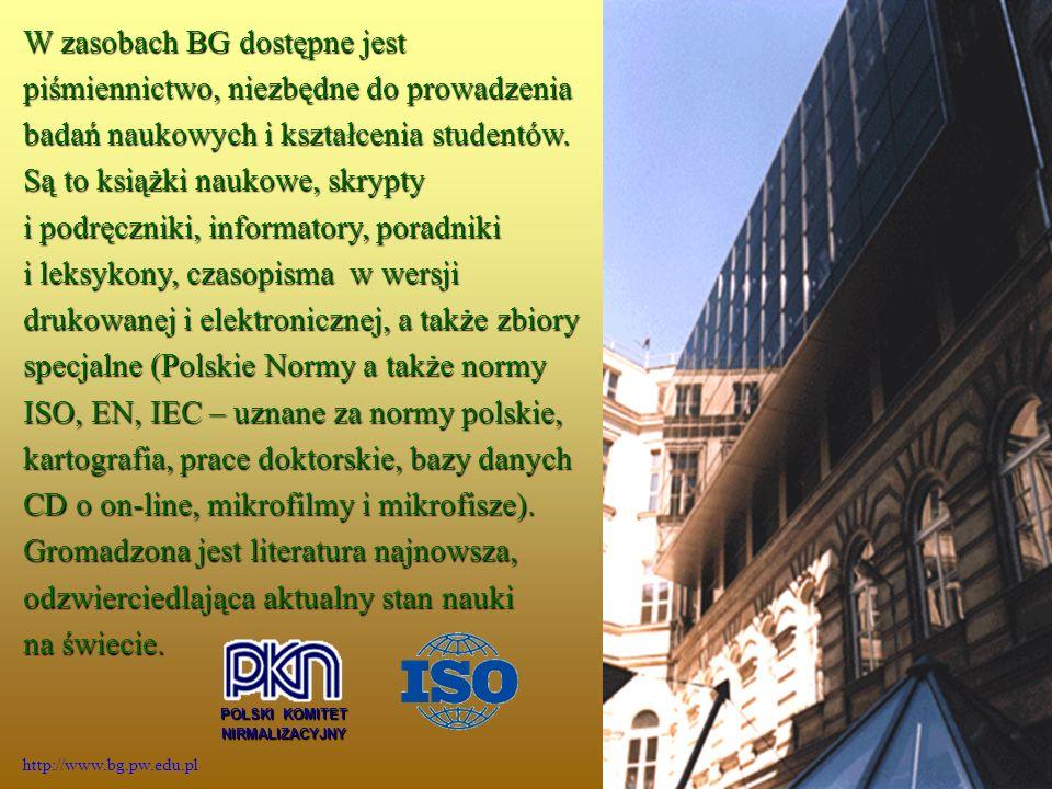 Filia BG PW w Płocku za pośrednictwem strony domowej BG PW Warszawie (http://www.bg.pw.edu.pl) umożliwia użytkownikom dostęp do katalogu online, gdzie mają oni możliwość przeszukiwania katalogów centralnych PW.