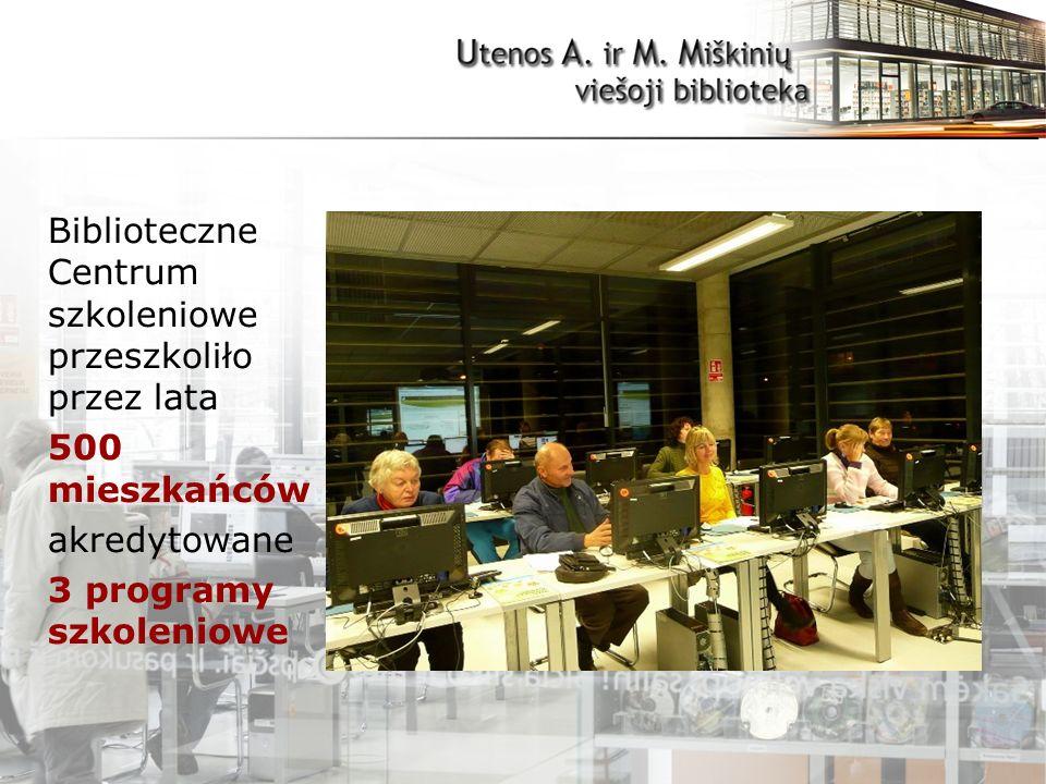 Biblioteczne Centrum szkoleniowe przeszkoliło przez lata 500 mieszkańców akredytowane 3 programy szkoleniowe