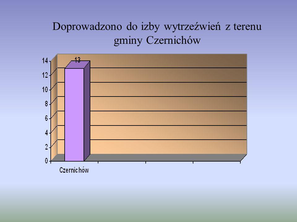 Doprowadzono do izby wytrzeźwień z terenu gminy Czernichów