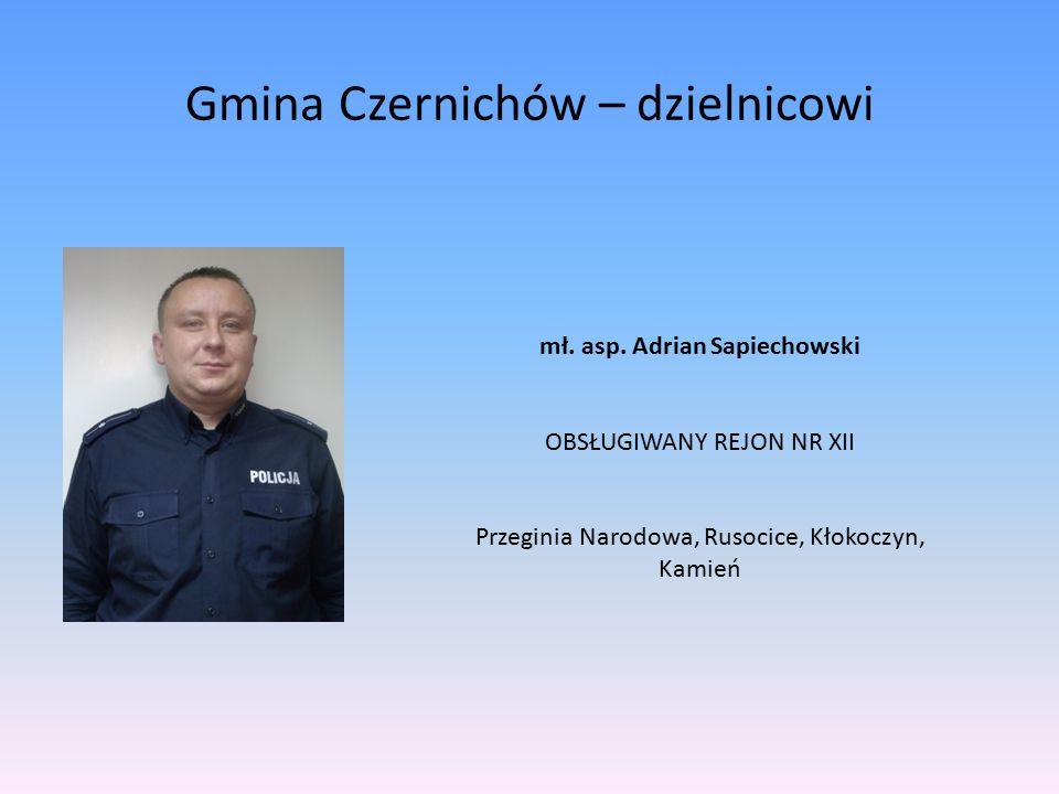 Gmina Czernichów – dzielnicowi sierż.sztab.