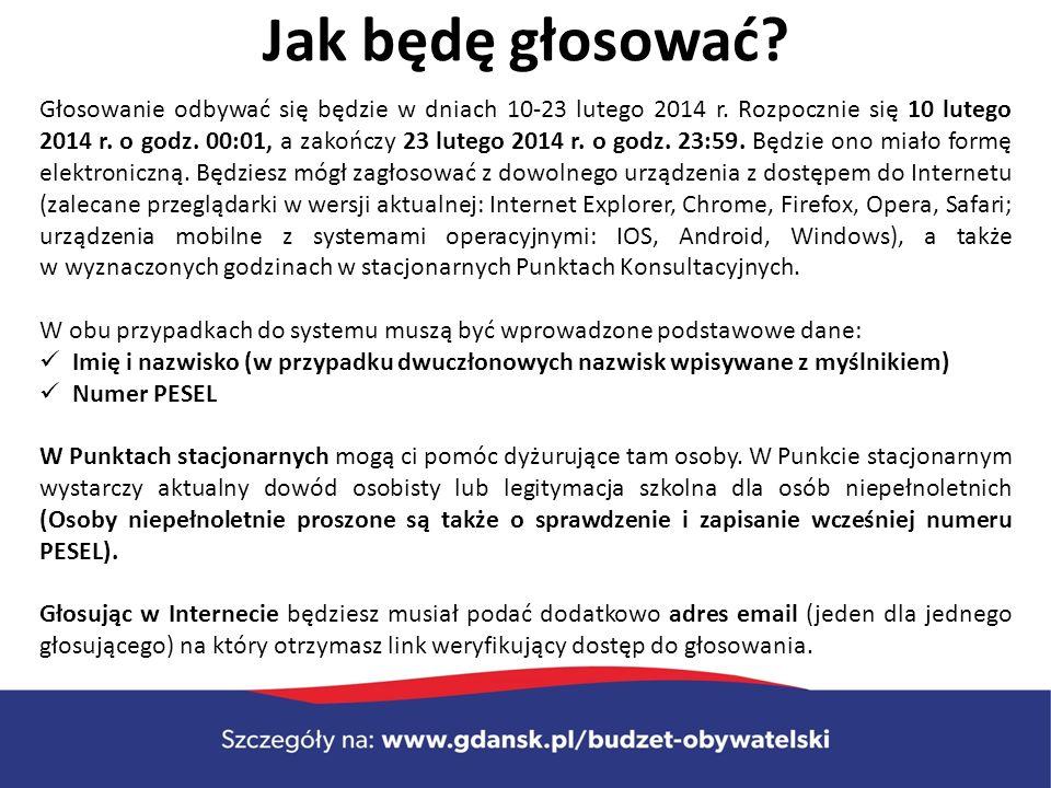 Jak będę głosować. Głosowanie odbywać się będzie w dniach 10-23 lutego 2014 r.