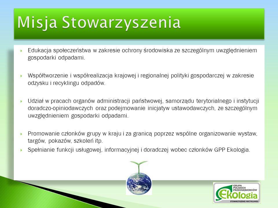  Edukacja społeczeństwa w zakresie ochrony środowiska ze szczególnym uwzględnieniem gospodarki odpadami.  Współtworzenie i współrealizacja krajowej
