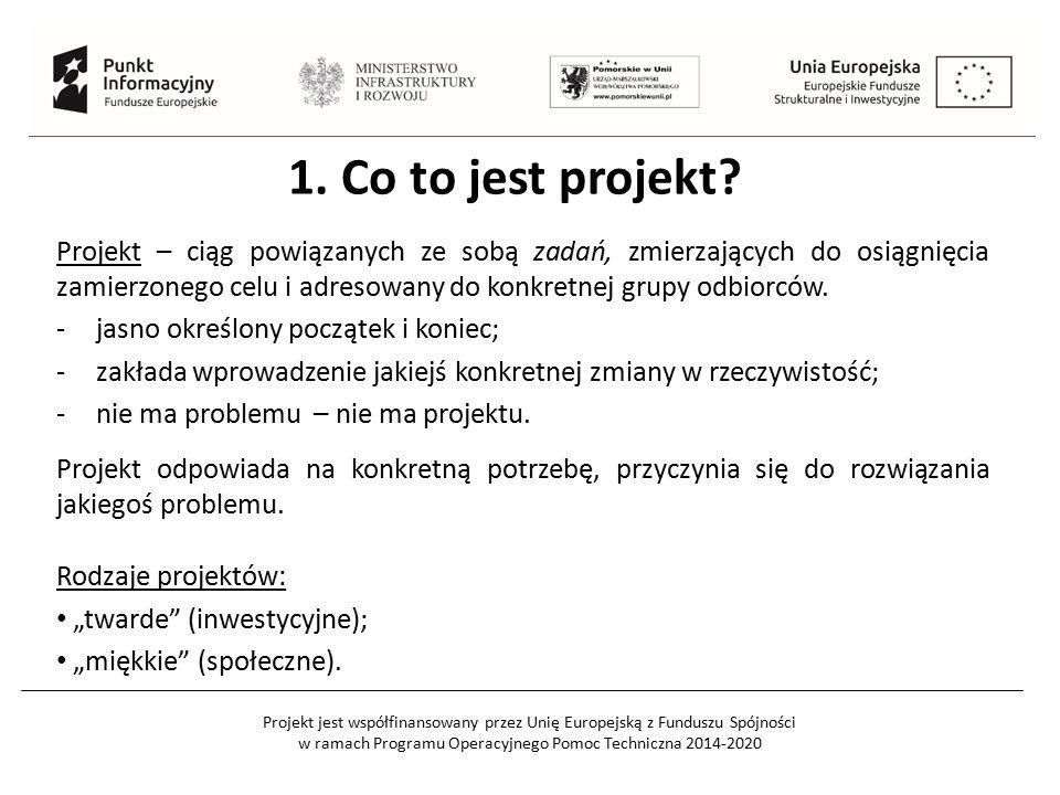 Projekt jest współfinansowany przez Unię Europejską z Funduszu Spójności w ramach Programu Operacyjnego Pomoc Techniczna 2014-2020 1.