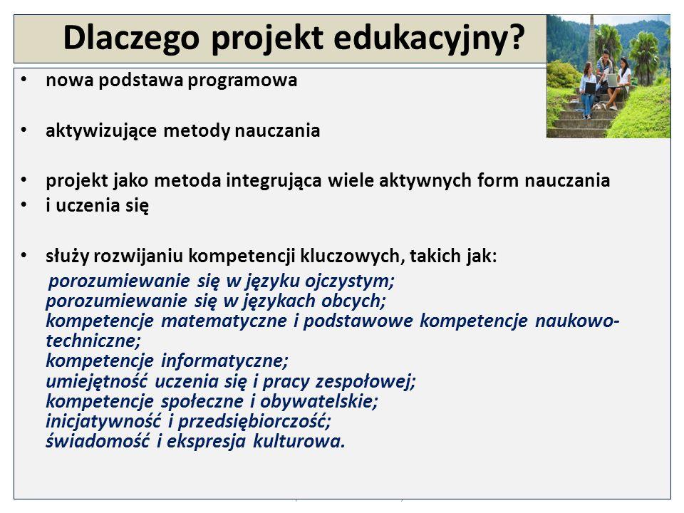 Projekt edukacyjny Aktywizująca metoda nauczania, polegająca na tym, że uczniowie, w oparciu o przyjęte wcześniej założenia, mają szansę samodzielnego zaplanowania, stworzenia i prezentacji większego przedsięwzięcia.