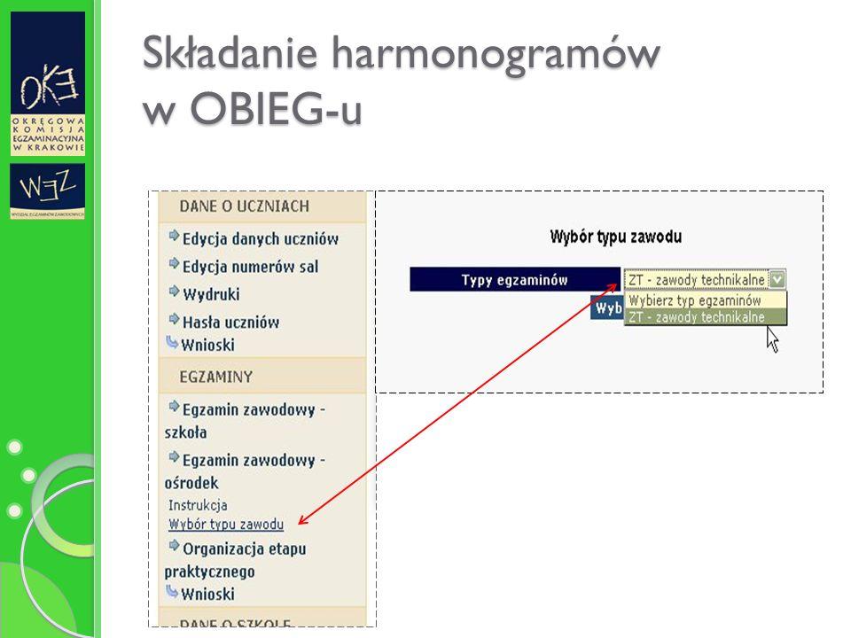 Składanie harmonogramów w OBIEG-u