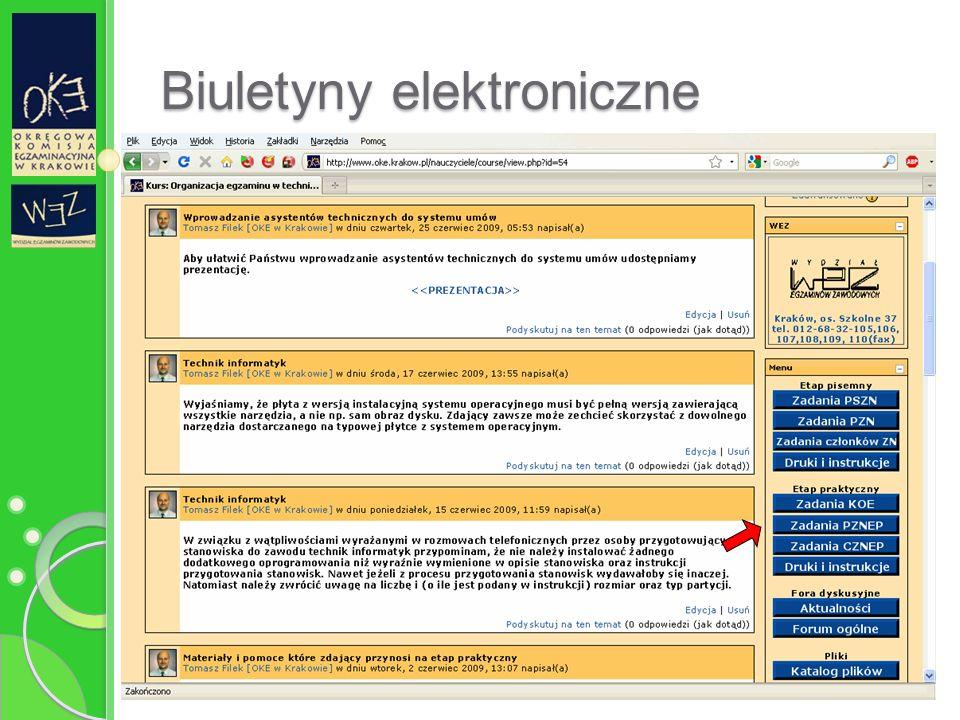 Biuletyny elektroniczne