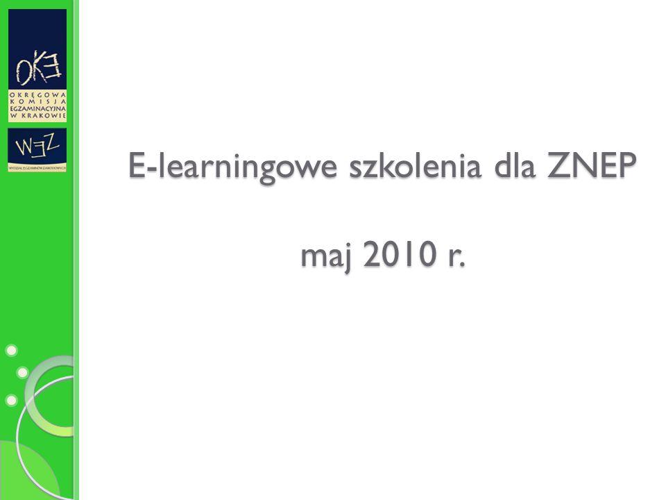 E-learningowe szkolenia dla ZNEP maj 2010 r.