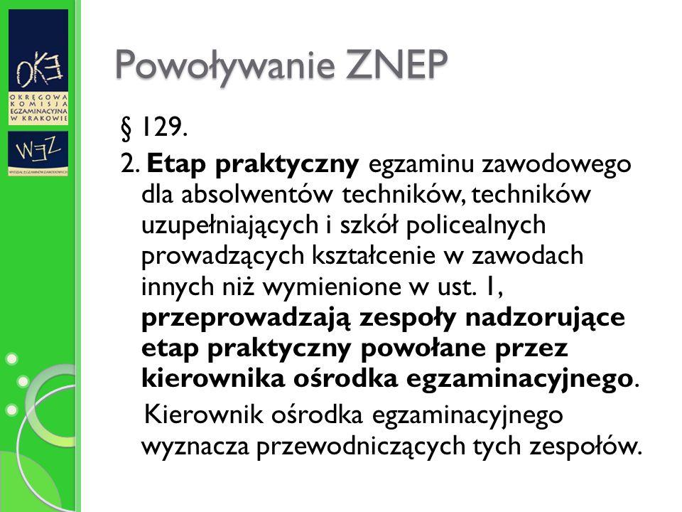 Powoływanie ZNEP § 129. 2.