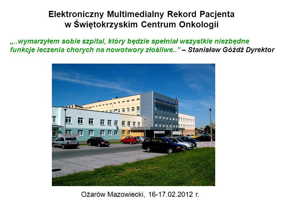14 Elektroniczny Multimedialny Rekord Pacjenta DICOM 3 w systemach obrazowych PACS 1 PACS 2 Radiotherapy Record-and-Verify Computer Images