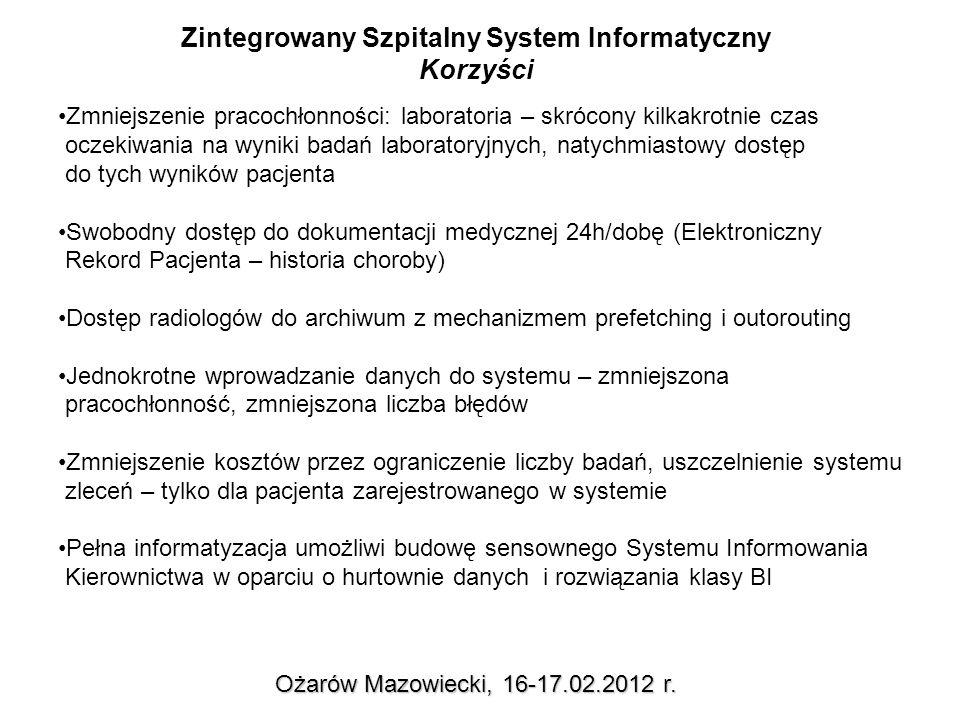 Korzyści z informatyzacji Ożarów Mazowiecki, 16-17.02.2012 r.