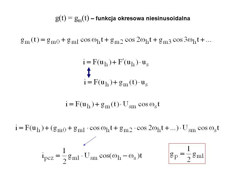 g(t) = g m (t) – funkcja okresowa niesinusoidalna
