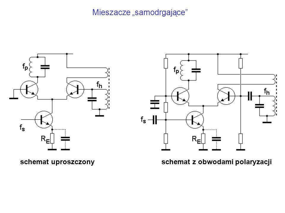 """schemat uproszczonyschemat z obwodami polaryzacji Mieszacze """"samodrgające"""
