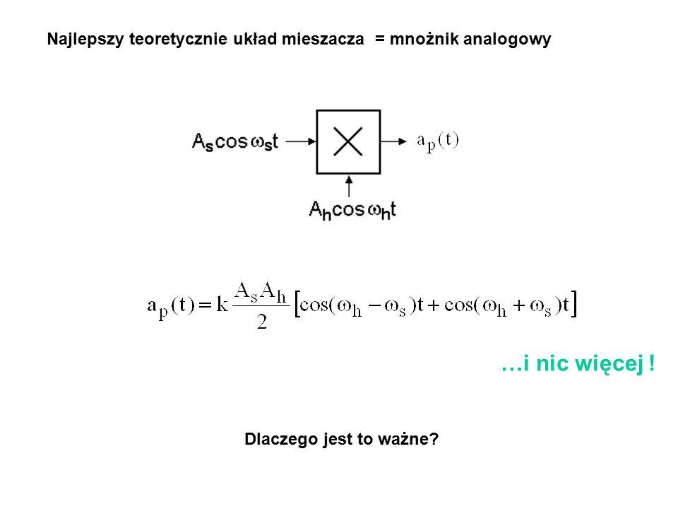 Najlepszy teoretycznie układ mieszacza = mnożnik analogowy …i nic więcej ! Dlaczego jest to ważne?