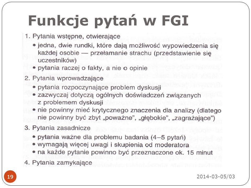 Funkcje pytań w FGI 2014-03-05/03 19