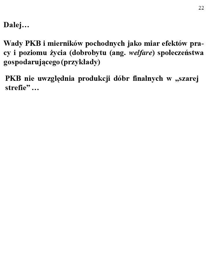21 PKB per capita w Nowej Zelandii, Polsce i Indiach; kurs oficjalny (2002 r.) i kurs PPP (2000 r.) Źródło: Dane ONZ.