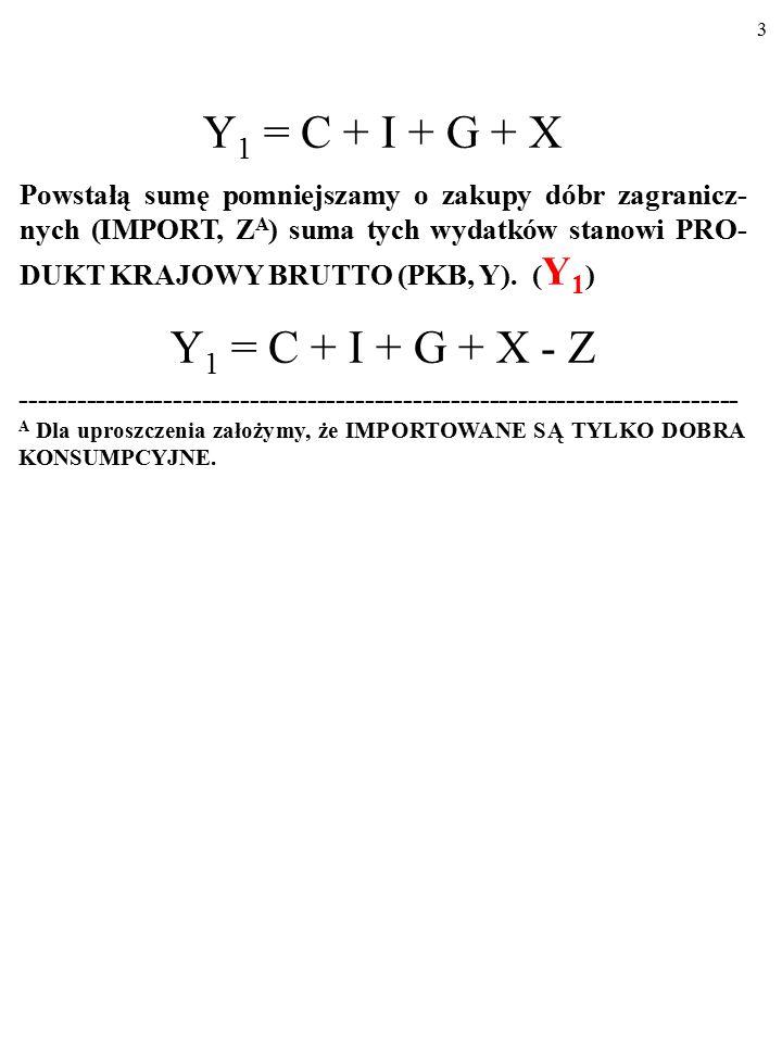 73 Z ZAGRANICA X ■ EKSPORT (X) – wartość dóbr (nie – aktywów) zakupionych przez zagranicę w naszym kraju.