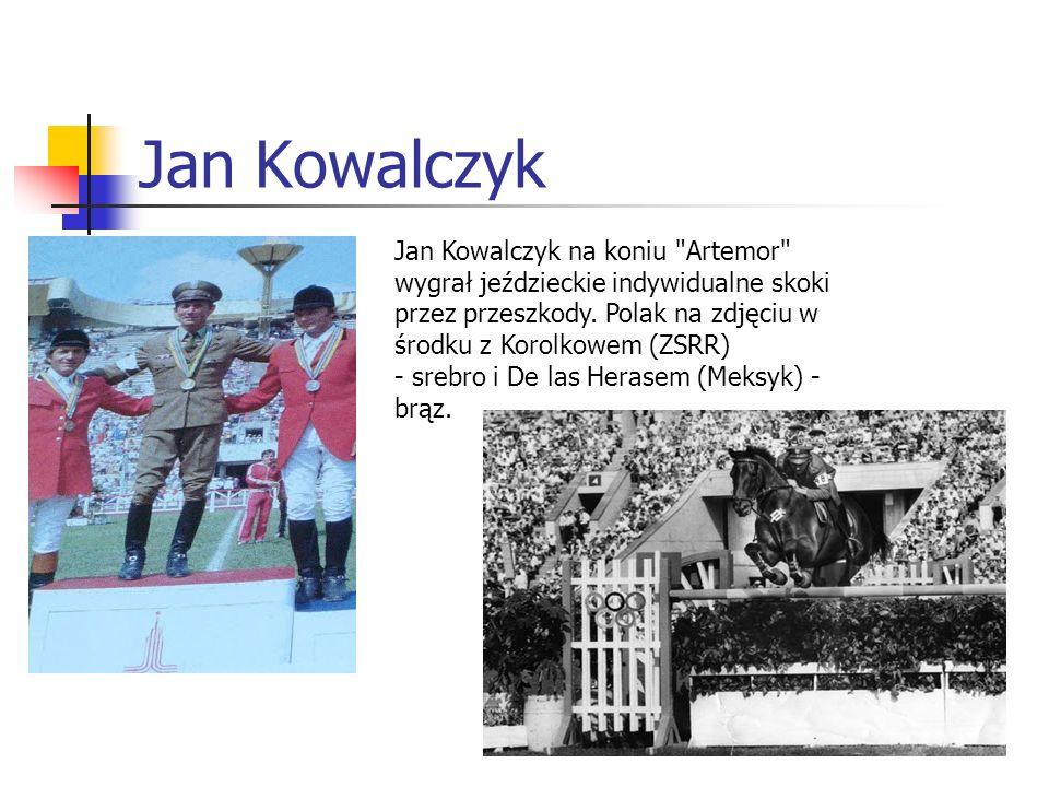 Jan Kowalczyk Jan Kowalczyk na koniu Artemor wygrał jeździeckie indywidualne skoki przez przeszkody.