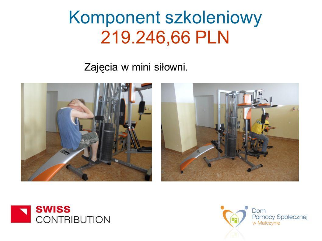 Zajęcia w mini siłowni. Komponent szkoleniowy 219.246,66 PLN