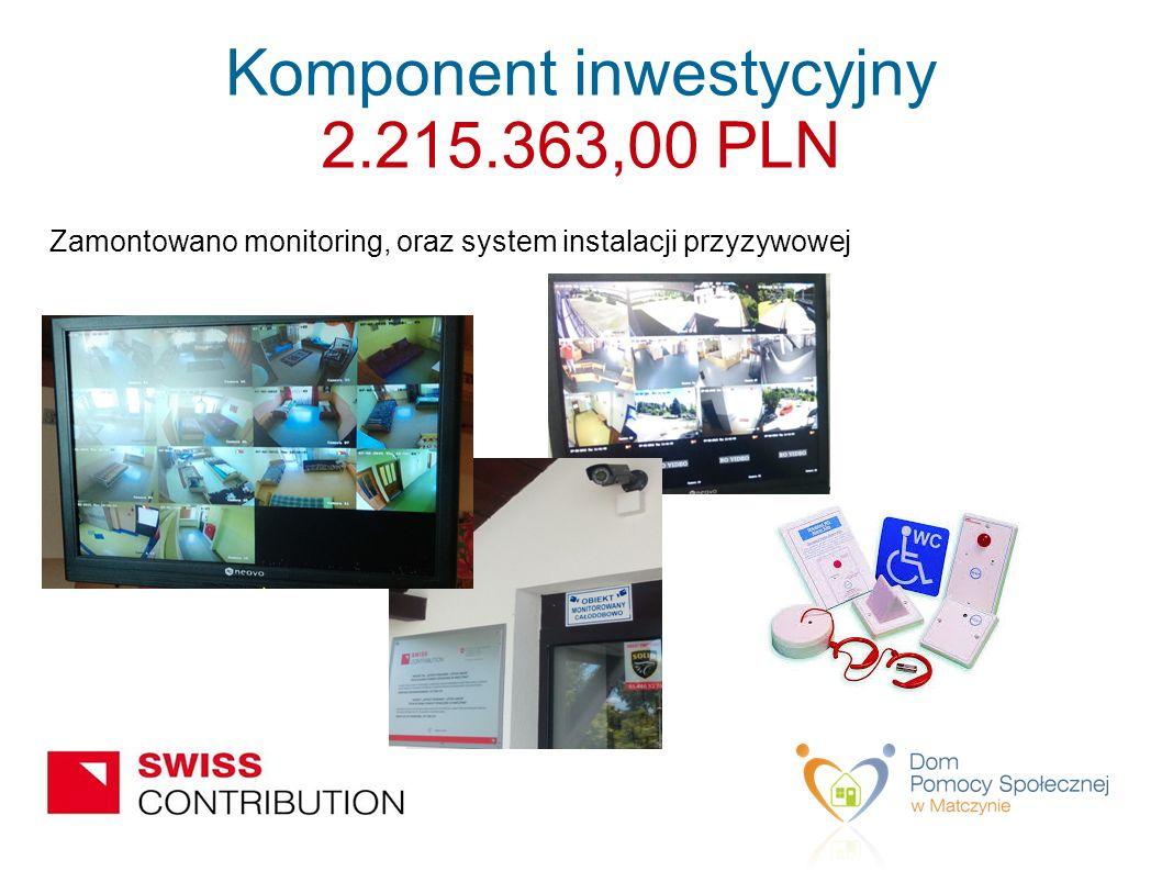 Zamontowano monitoring, oraz system instalacji przyzywowej Komponent inwestycyjny 2.215.363,00 PLN