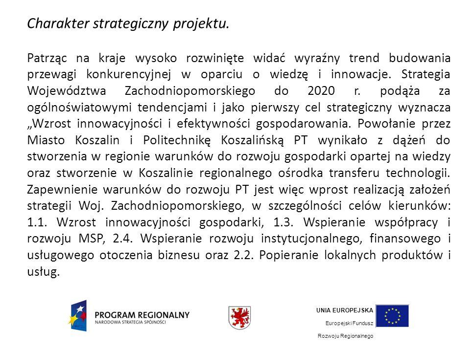 Charakter strategiczny projektu.