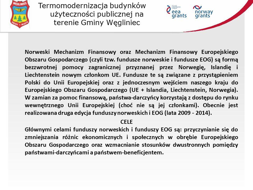 Termomodernizacja budynków użyteczności publicznej na terenie Gminy Węgliniec Norweski Mechanizm Finansowy oraz Mechanizm Finansowy Europejskiego Obszaru Gospodarczego (czyli tzw.
