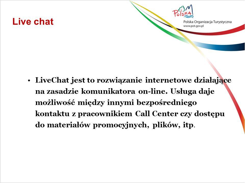 LiveChat jest to rozwiązanie internetowe działające na zasadzie komunikatora on-line.